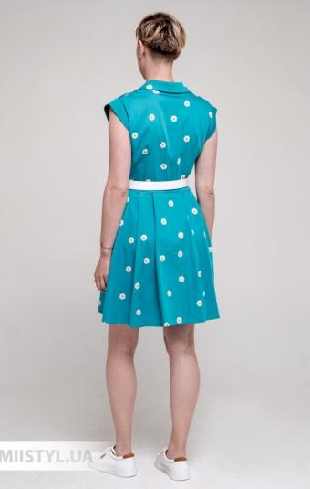 Платье Asil 521-21455 Бирюзовый/Принт