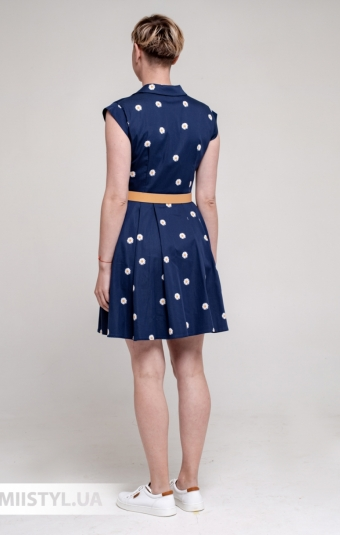 Платье Asil 521-21455 Темно-синий/Принт