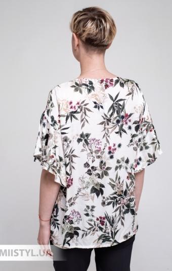 Блуза Ingvar BL-12/783 Молочный/Зеленый/Принт