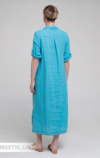 Платье Puro Lino 8851 Светло-бирюзовый