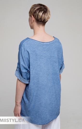 Блуза Miss Cocco 1396 Джинсовый/Принт
