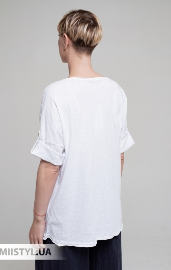 Блуза Miss Cocco 1396 Белый/Принт