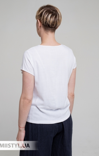 Блуза MC 1606-8 Белый/Темно-синий/Принт