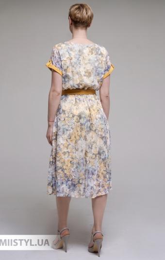 Платье F&K 3019 Желтый/Принт