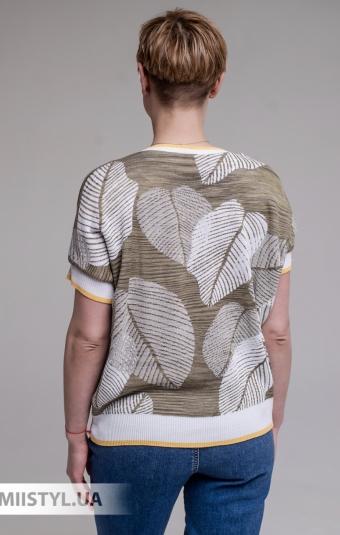 Блуза U7 5945 Хаки/Принт