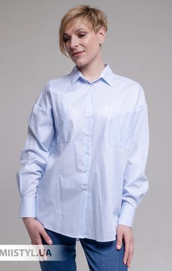 Блуза Ingvar BL-10-391 Белый/Голубой/Принт