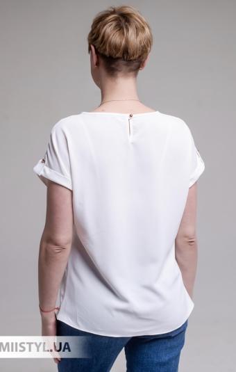 Блуза F&K 4002 Молочный/Красный/Принт