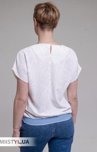 Блуза Merkur 0925111 Молочный/Синий/Принт