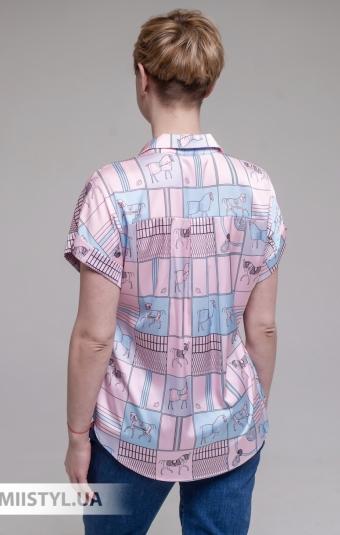 Блуза Merkur 0875102 Белый/Розовый/Принт