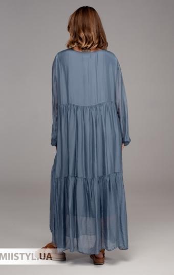 Платье Puro Lino 7209 Джинсовый