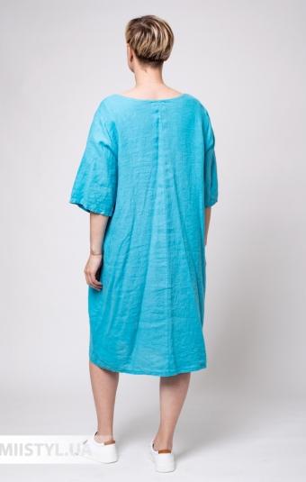 Платье Puro Lino 8703 Светло-бирюзовый