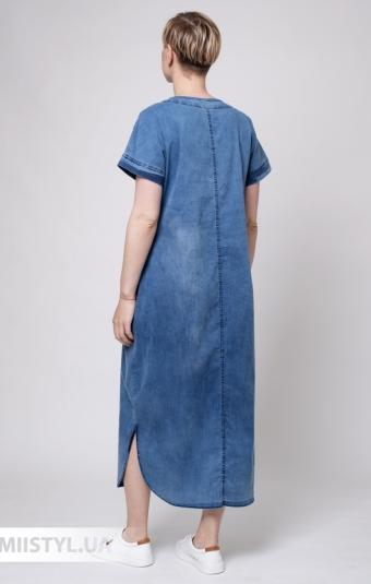 Платье Stella 0495-04 Джинсовый