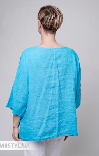 Блуза Puro Lino 8704 Бирюзовый