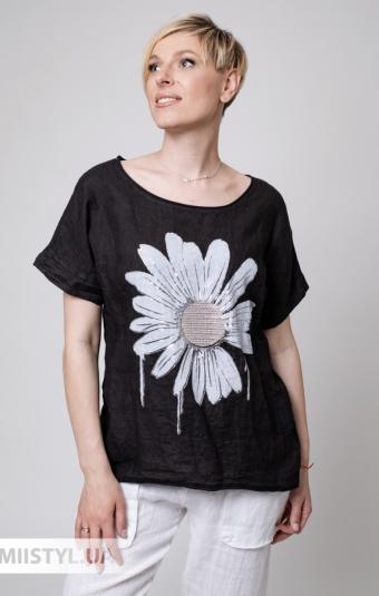 Блуза Absession 6047 Черный/Принт