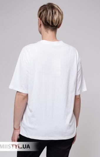 Футболка Destello 9534 Белый/Фиолетовый/Принт