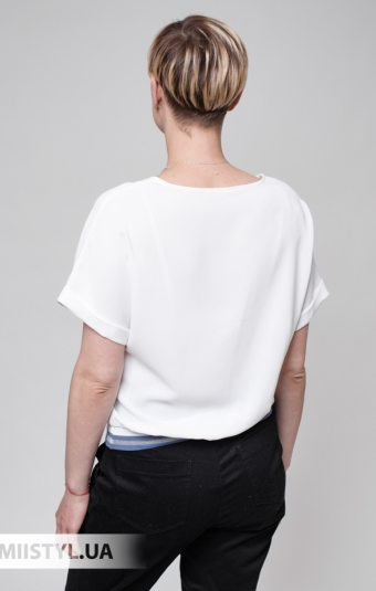 Блуза Fusion 53927M Белый/Индиго/Принт