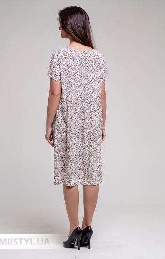 Платье GrimPol 2003 Молочный/Принт