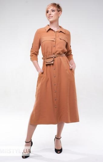 Платье DZYN 9065 Темно-бежевый