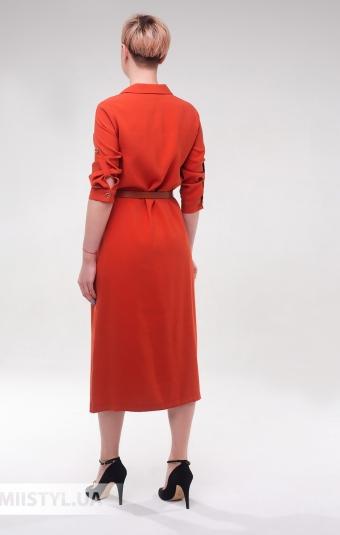 Платье DZYN 9065 Терракотовый