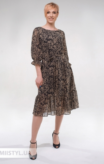 Платье Effective 12027 Черный/Принт