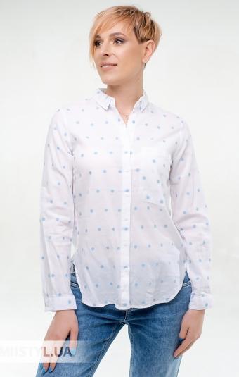 Блуза Estero Ragazza 3373 Белый/Голубой/Горох