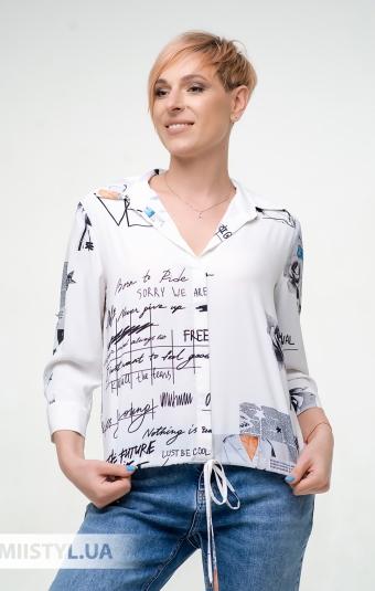 Блуза Meissi 5006 Белый/Черный/Принт