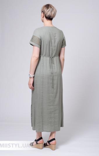 Платье Рута С 4302ЛН/1 Хаки