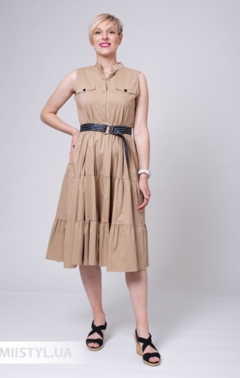 Платье Asil 960-20750 Бежевый
