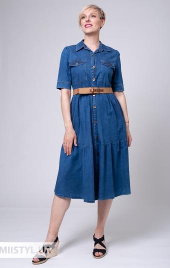 Платье Asil 898-21196 Джинсовый