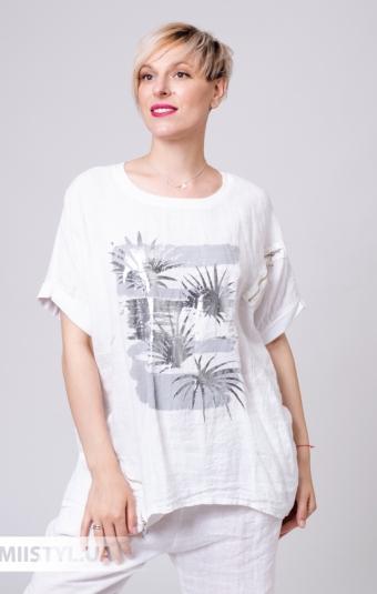 Блуза Miss Cocco 6147 Белый/Принт