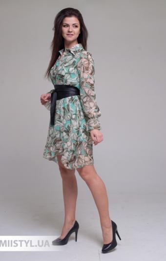 Платье Joleen S21-A107DV Мятный/Принт