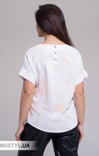 Блуза Merkur 084-5096 Белый/Горчичный/Принт
