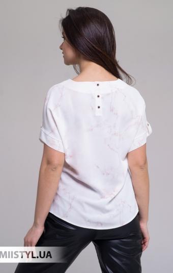 Блуза Merkur 084-5096 Белый/Бежевый/Принт