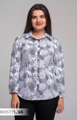 Блуза Moda Linda 4825 Белый/Черный/Принт