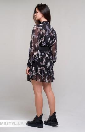 Платье Of White 2205045 Черный/Принт