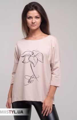 Блуза Giocco 5636 Пудра/Принт