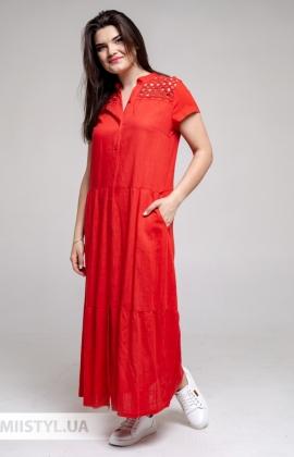Платье Рута С 4419ЛН Красный