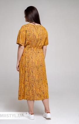 Платье GrimPol 2115 Горчичный/Принт