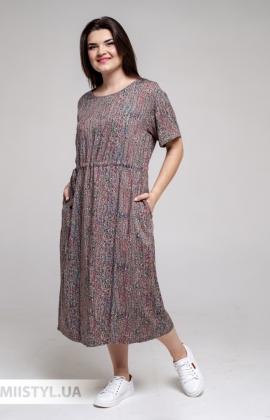 Платье GrimPol 2115 Шоколадный/Принт