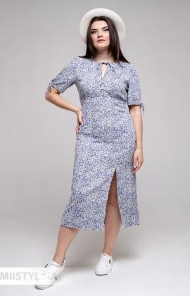 Платье GrimPol 2122 Фиолетовый/Принт