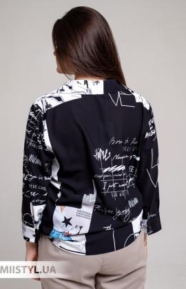 Блуза Meissi 5006B Черный/Принт