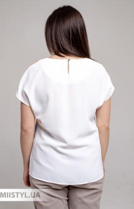 Блуза Merkur 0916104 Белый/Терракотовый/Принт