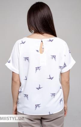 Блуза Pretty Lolita 13367 Белый/Принт