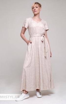 Платье F&K 3036 Бежевый/Принт