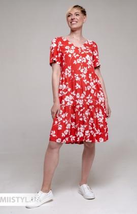 Платье GrimPol 2119 Красный/Белый