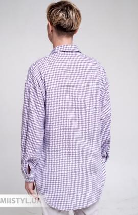 Блуза GrimPol 2107 Белый/Розовый
