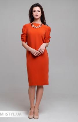 Платье November 60325 Терракотовый