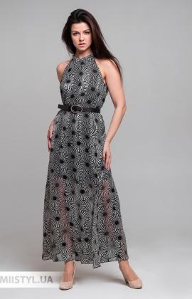 Платье Sequel 3367 Черный/Белый/Принт