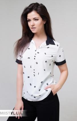 Блуза Merkur 0515023 Белый/Черный/Принт