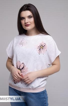 Блуза Merkur 0926111 Молочный/Пудра/Принт